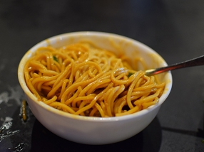 Grand Szechuan: Dan dan noodles, tossed