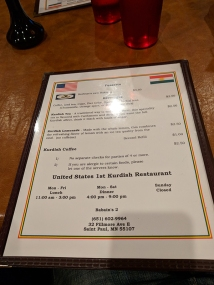 Babanis's 2: First Kurdish restaurant