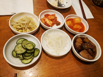 The banchan may be basic but it's all very good.