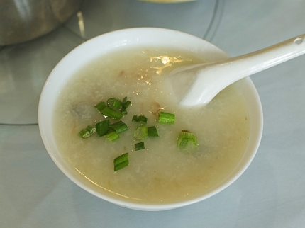 The congee, with pork and thousand year egg, was very good---perhaps my favourite thing at the meal.