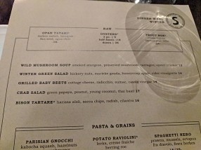 Spoon and Stable: Menu, first courses