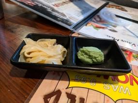 Tenno Sushi: Gari, wasabi
