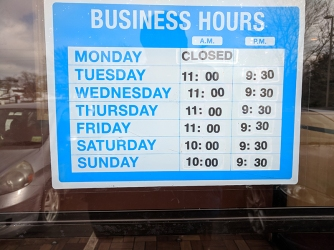 A&L Chinese: Hours
