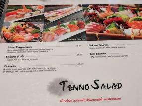 Tenno Sushi: Menu