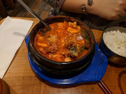 Beverly Soon Tofu: Fish egg soon dubu