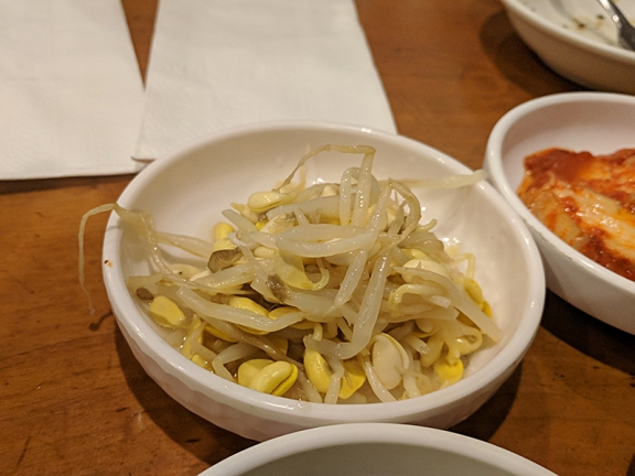 Beverly Soon Tofu: Bean sprouts