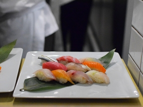 The sushi flight. Doesn't seem like a bad deal for $45, especially if you eat bluefin.