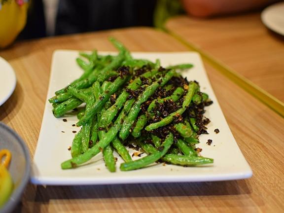 Szechuan: Green beans