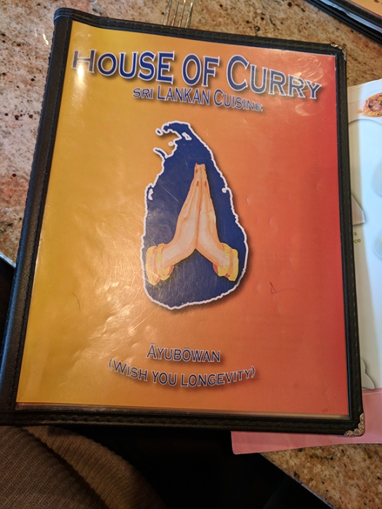 House of Curry: Menu