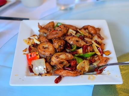 Tea House: Spicy pork chitterlings