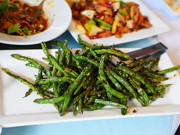 Tea House: Szechuan green beans