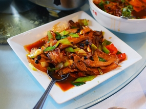Tea House: Double-cooked pork