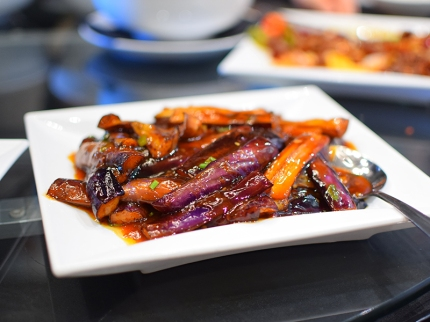 Lao Sze Chuan: Eggplant with garlic sauce