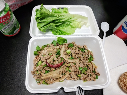 Hmongtown Marketplace: Beef larb