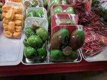 Hmongtown Marketplace: Green mangoes with rock salt