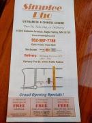 Simplee Pho: Take out menu