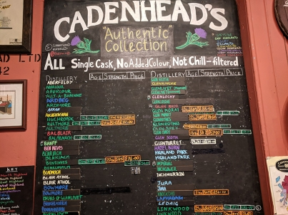 Cadenhead's Edinburgh: Authentic Collection
