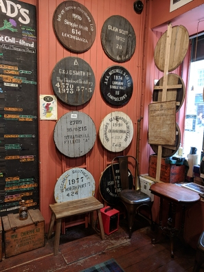 Cadenhead's Edinburgh: Cask heads