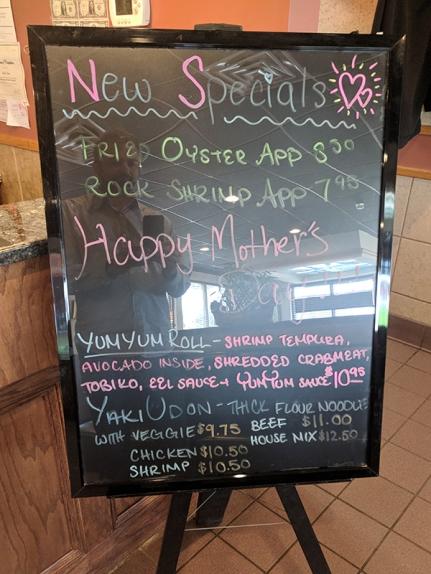 Tokyo Grill: New specials