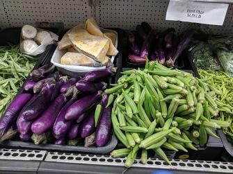 TBS Mart: Okra and long eggplant
