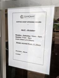 Glen Grant: Coffee shop hours