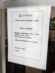 Glen Grant: Coffee shop hours