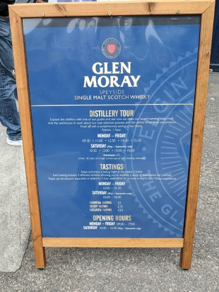 Glen Moray: Admission details