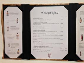 Glenfiddich: Whisky flights
