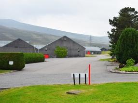 Glenfarclas: Hills and grey buildings