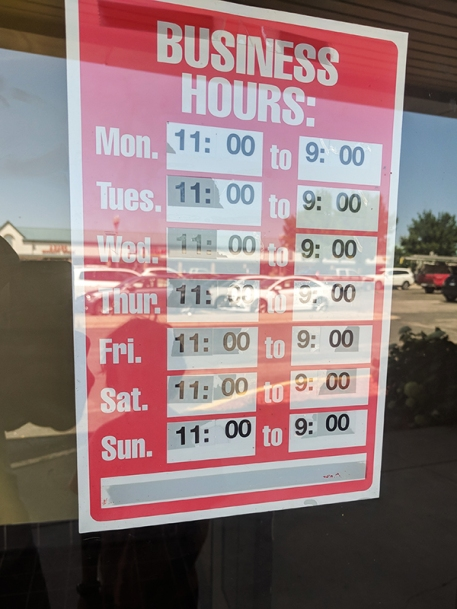 Pho Valley: Hours