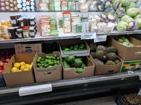 Green mangoes are not the only fruit here that you won't see at the average American grocery.