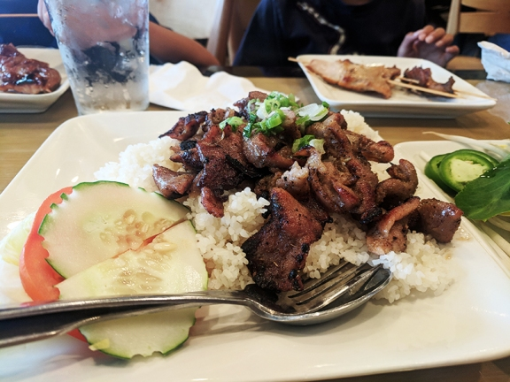 Pho Valley: Grilled pork and rice