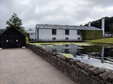Glenfiddich: Walking past the pool towards the visitor centre