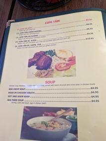 Saigon Palace: Com Tam, Soup