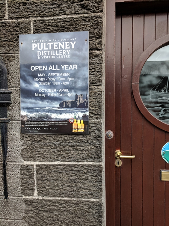 Pulteney: Open All Year