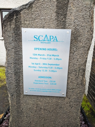 Scapa: Opening Hours