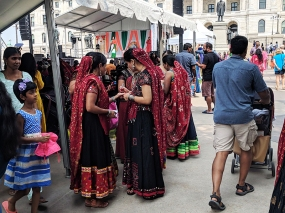 India Fest 2018: Performers in the crowd