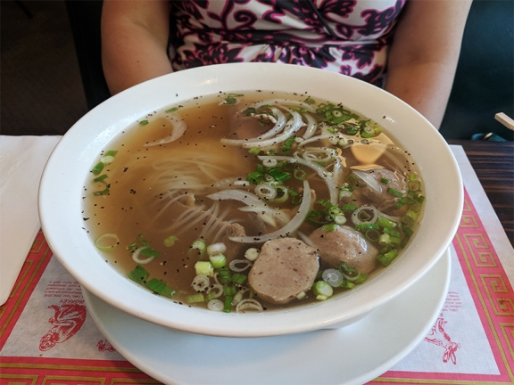 This is the special pho, the only one that comes with any tripe or tendon.