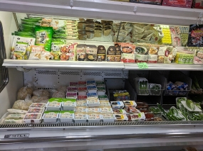 There's a small selection of prepared foods too here.