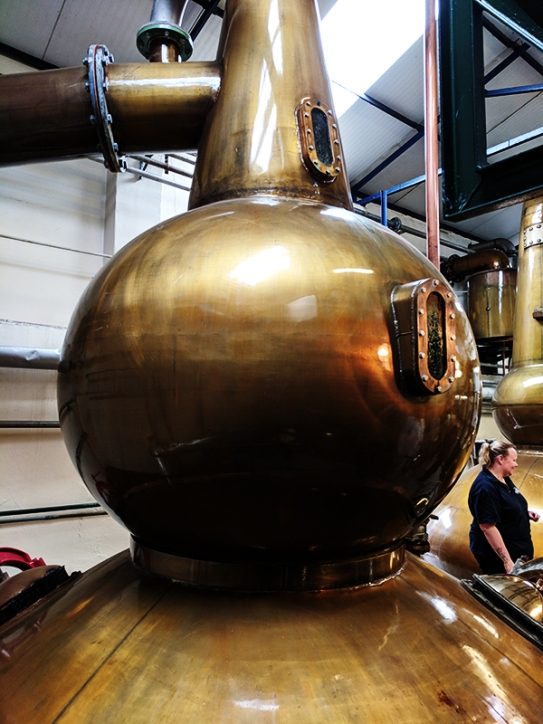 The famous bulbous wash still of Pulteney.