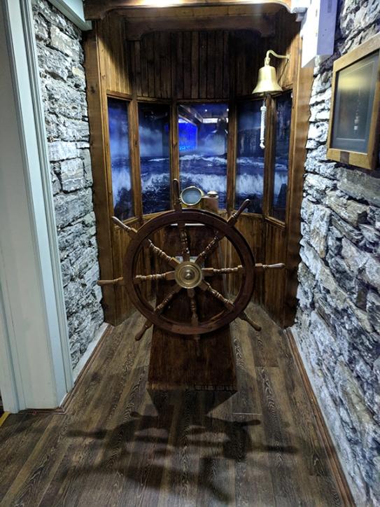 Pulteney: Ship's wheel