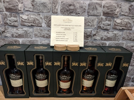 Tomatin: Bottle your own prices