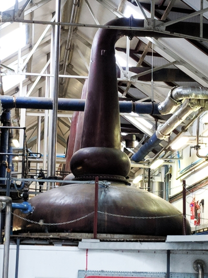 Tomatin: Spirit stills, close-up