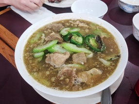 Kolap is actually enough blocks north of University for its inclusion here to be cheating but I do not care. This beef sour soup is awesome.