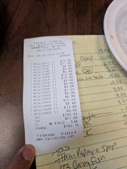Thai Cafe: Bill