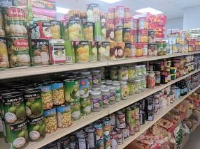 Viet Hoa Lao Market: Canned fruit etc