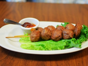 Thai Cafe: Fried Beef Meatballs