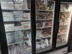 Viet Hoa Lao Market: Frozen meats etc