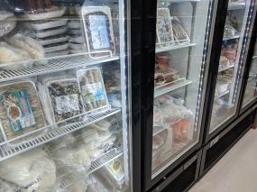 Viet Hoa Lao Market: Frozen seafood
