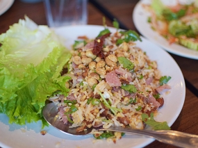 Though we prefer the version at On's, Lao Thai's toasted rice salad is pretty good too.